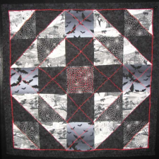 Black, White and Red Quilt
